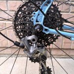 Long-cage Force 1 derailleur has no problem clearing the 42t cog.