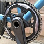 The X-SYNC™ 42t chainring with mud-clearing recesses.