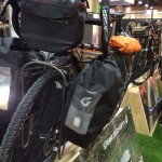 The translucent pockets on Blackburn Designs' panniers are ideal for lights.