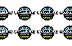 gravelbike logo repeated 8 times